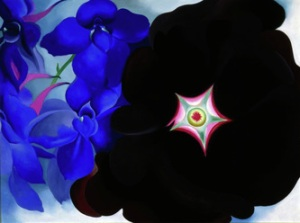 Black Hollyhock, Blue Larkspur, 1934