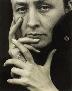 Georgia O'Keeffe, photographed by Alfred Steiglitz.