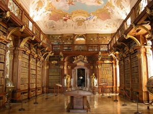 Melk Abbey Library, By Emgonzalez (Own work) [Public domain], via Wikimedia Commons