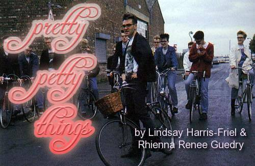 Morrissey and good-looking men on bicycles